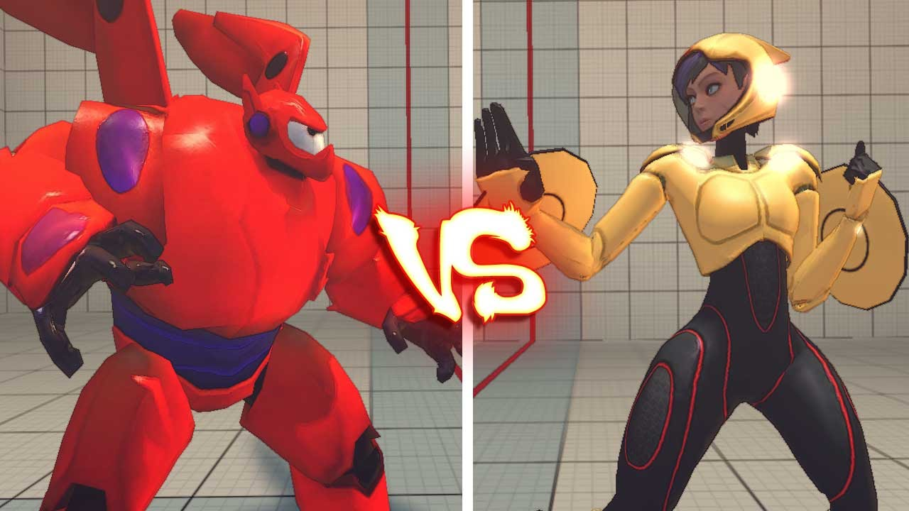 Baymax And Gogo ultra street fighter 4 pc - go go tomago vs baymax