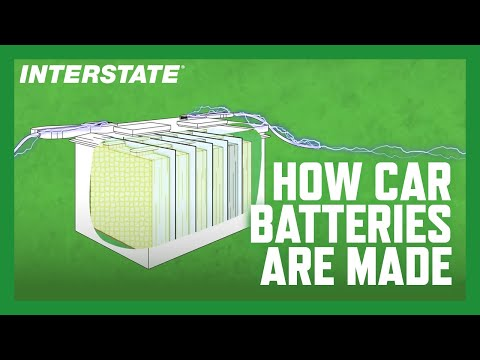 How is a car battery made?