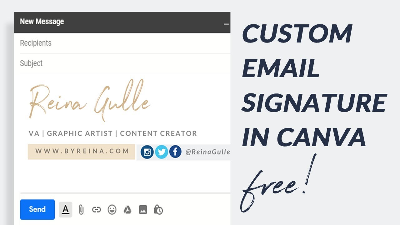 how to create email signature in canva for free