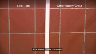 CEG-Lite™ Epoxy Grout Time Lapse Demonstration