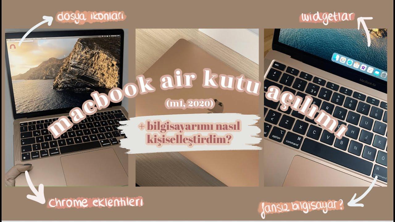 MacBook Air M1 KUTU AÇILIMI | KURULUM VE İNCELEME #MACBOOK