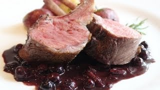 Rack Of Lamb With Blueberry Beurre Rouge - Easter Lamb Roasted With Blueberries