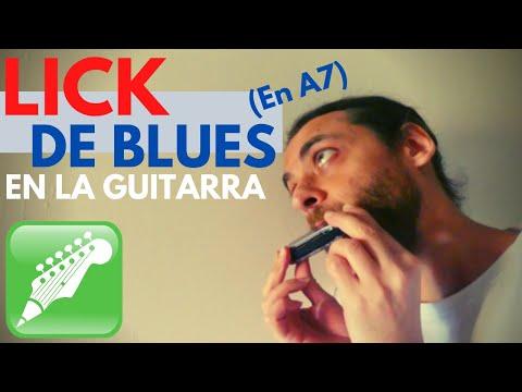 LICK BLUES EN A7 (C#3)
