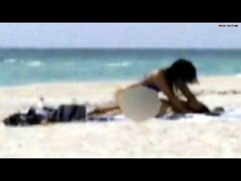 Caught on tape: Couple has sex on public beach