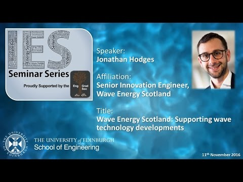 Wave Energy Scotland: Supporting wave technology developments - Jonathan Hodges
