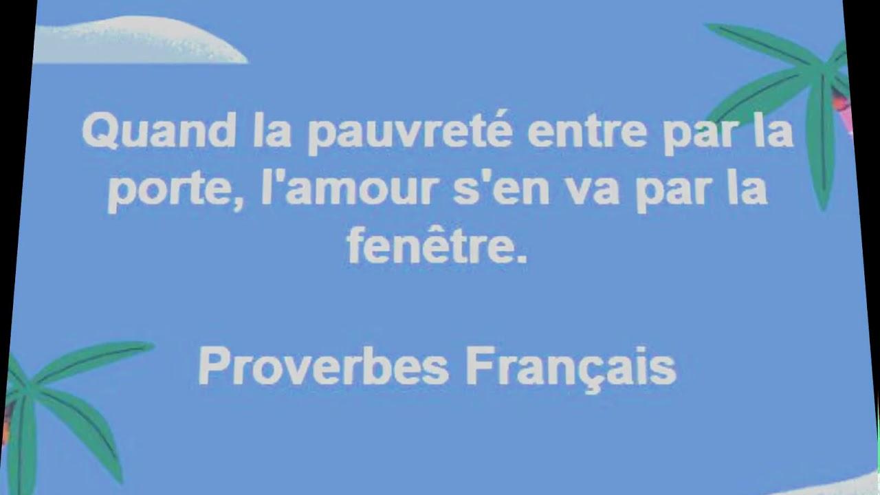 Proverbes Français Quand La Pauvreté Entre Par La Porte