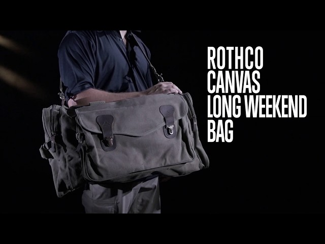 Canvas Long Weekend Bag - Rothco Product Breakdown