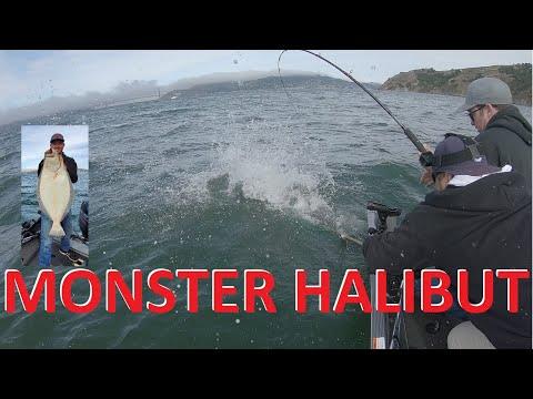 Biggest Halibut I Have Seen! SF Bay, Angel Island