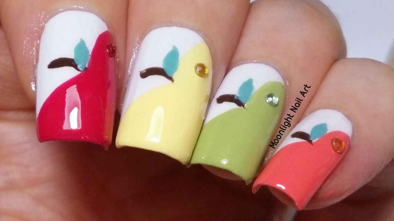 Le Nail Art Easy Back To School Design