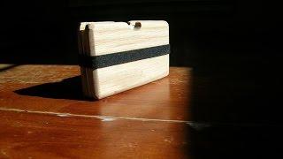 making a wooden wallet card holder