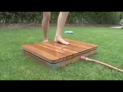 Летний душ. Классная идея для дачи.