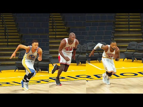 Who is the Fastest NBA Player? Stephen Curry, LeBron James, Michael Jordan, Kobe Bryant? NBA 2K17