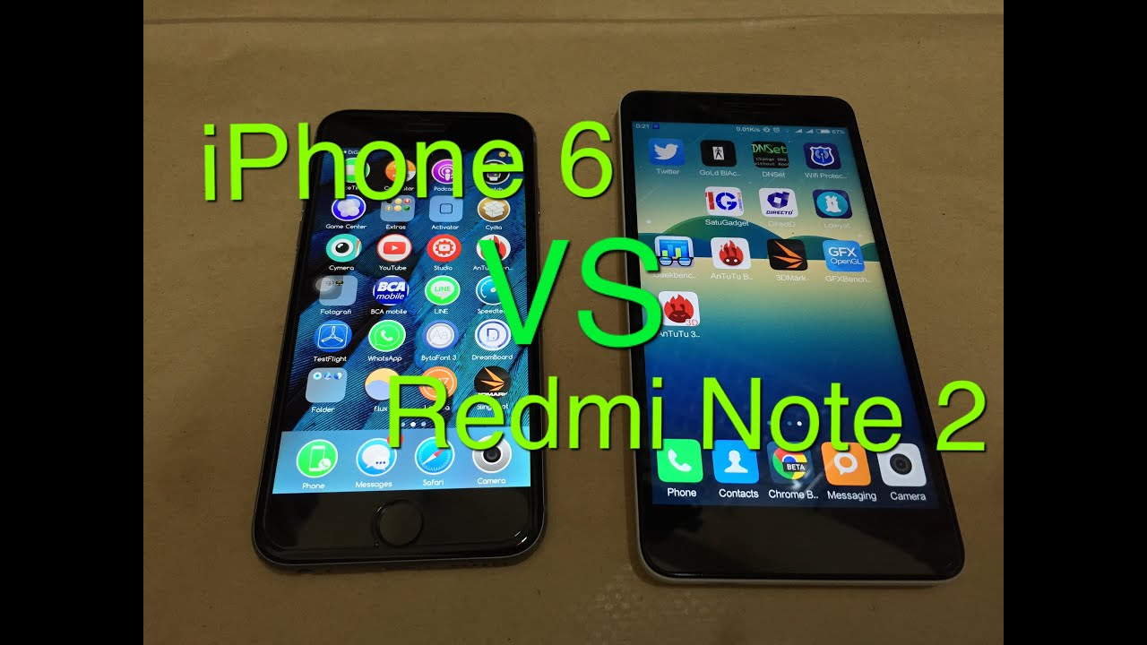Iphone 6 vs redmi note 3