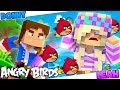 MINECRAFT: BOY VS GIRL!! - ANGRY BIRDS IN MINECRAFT MINI GAME - Donny & Leah Challenge Game