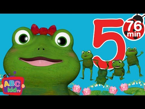 Five Little Froggies Jumping on the Bed | + More Nursery Rhymes & Kids Songs - ABCkidTV