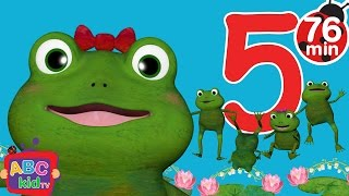 Five Little Froggies Jumping on the Bed + More Nursery Rhymes & Kids Songs - CoComelon
