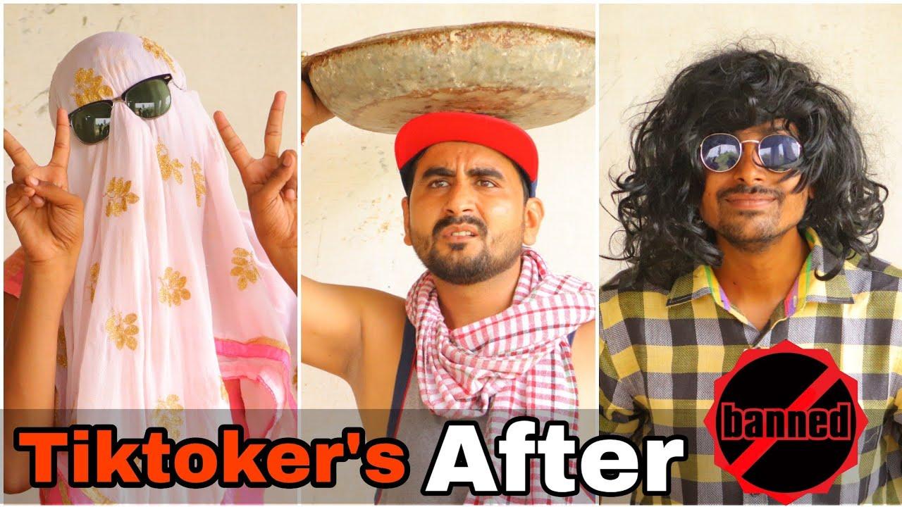 Tiktoker's Life After Ban    Tiktok Reaction    Desi Panchayat    Kaalu And T2    Desi Comedy   