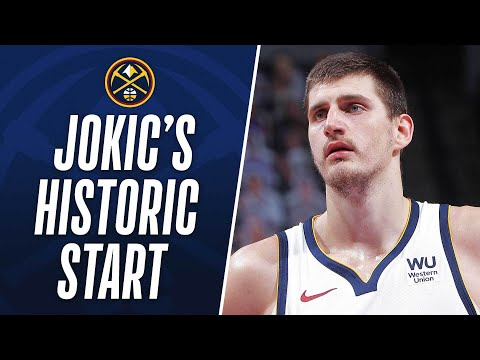 Jokic joins Oscar Robertson as the only 2 players to record more than 200 points, 100 assists and 100 rebounds in their first 10 games.