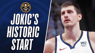 Jokic Joins Oscar As Only Player To Record 200+ PTS, 100+ REB & 100+ AST In Their First 10 Games!