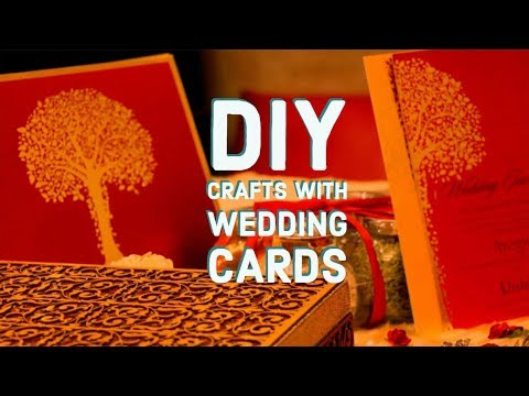 5 Minutes Crafts using Wedding / Invitation Cards | Best use of Wedding Cards | MashDIYzone