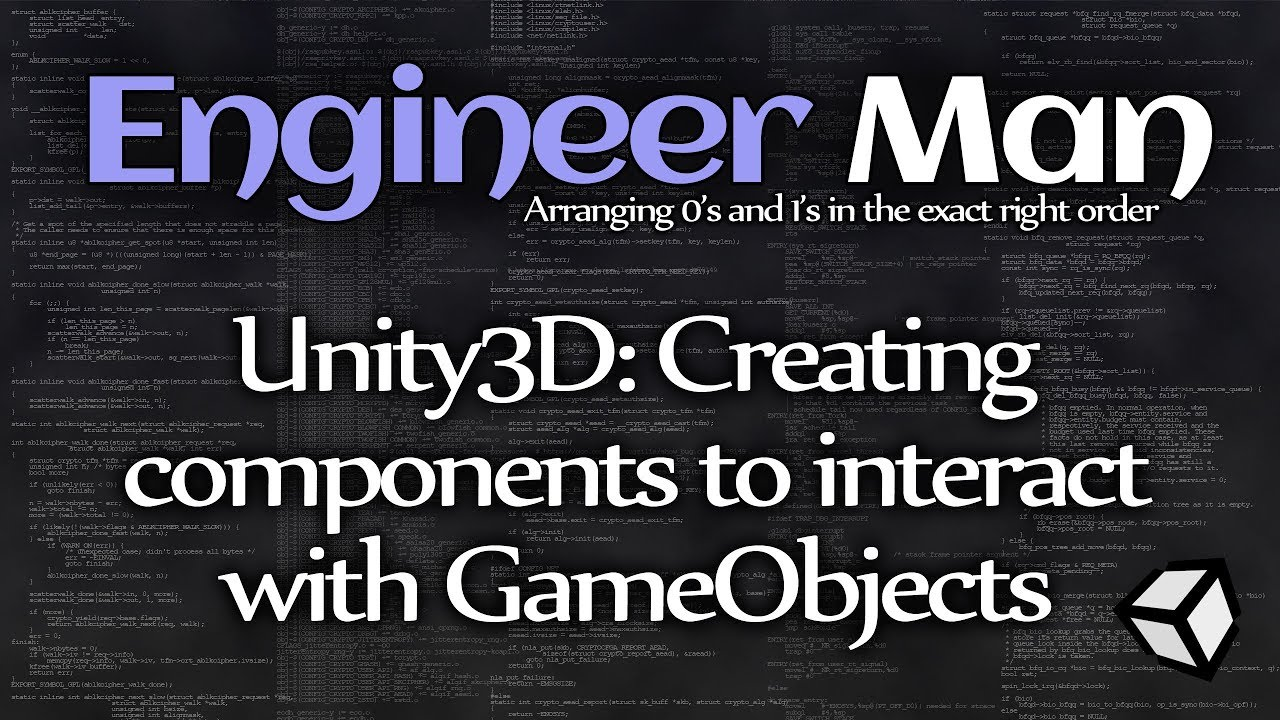Unity3D: Creating components to interact with GameObjects