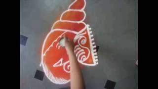 how to draw ganesha rangoli