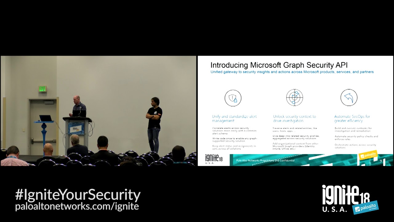 Microsoft Intelligent Security Graph and Palo Alto Networks App Framework