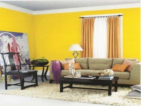 Kombinasi Warna Cat Rumah Kuning  desain ruang tamu warna kuning youtube
