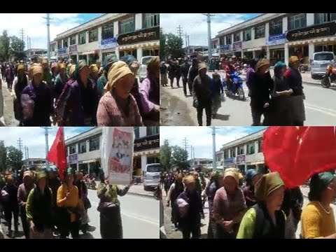 Protest over the Chinese new constructions in Phenpo County of Tibet