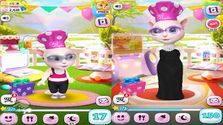 My Talking Angela KID VS ADULT SIZE / LEVEL 17 Vs LEVEL 150 Gameplay Great Makeover for Children HD