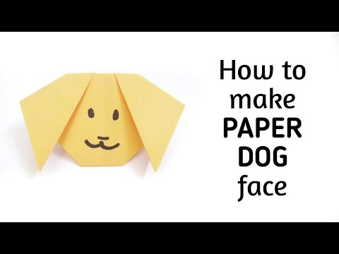 How to make an origami paper dog 1 origami paper for Craft work with paper folding