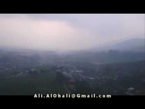 Parachuting in Indonesia.
