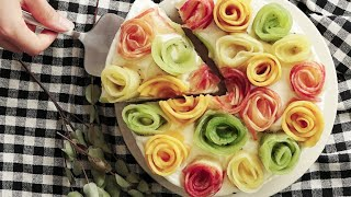 【レシピ】フルーツフラワーレアチーズケーキの作り方
