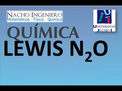 Estructura Lewis N2o