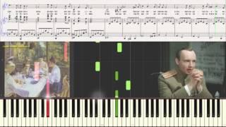 Белой акации гроздья душистые - Романс (Ноты и Видеоурок для фортепиано) (piano cover)
