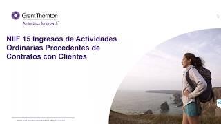 NIIF 15  Ingresos de Actividades Ordinarias Procedentes de Contratos con Clientes