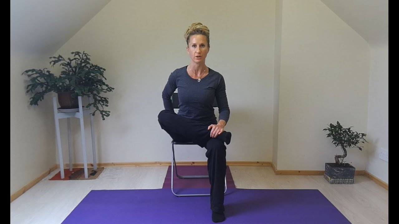 Seated Piriformis Figure of Four Stretch for Sciatica and Lower Back Pain
