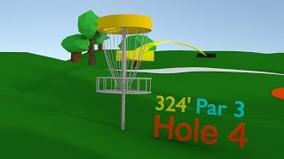 3D Disc Golf Course Preview | BLENDER Timelapse
