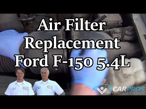 Cabin Air Filter >> Air Filter Replacement Ford F-150 5.4L 1997-2003 - YouTube