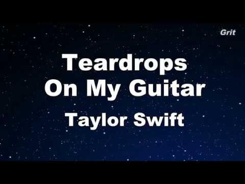 Teardrops On My Guitar - Taylor Swift Karaoke【No Guide Melody】