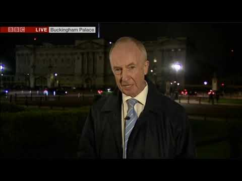"""BBC Royal Correspondent Nicholas Witchell """"losing it"""" during a live package about Baby Sussex"""