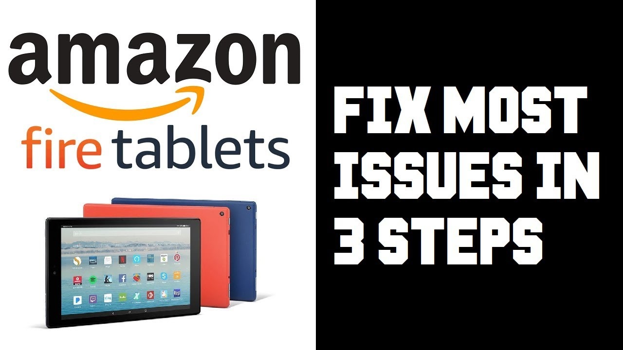 Amazon Fire Tablet How To Fix Most Issues in 3 Steps - Frozen Reset, Wifi  Connection, Update