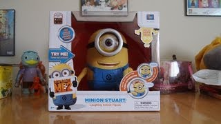 Minion Stuart - Despicable Me 2 Laughing Action Figure Toy Unboxing amp Review