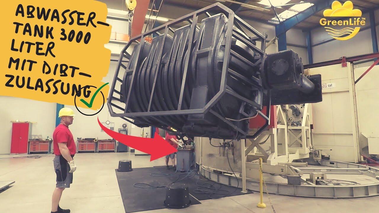 Top Herstellung einer Abwassertank 3000 Liter mit DIBT-Zulassung TN07