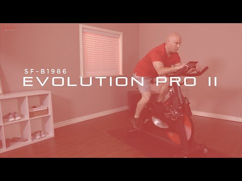 Evolution Pro II Magnetic Indoor Cycle Exercise Bike SF-B1986 | Sunny Health & Fitness