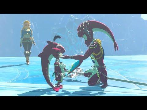 Zelda: BOTW (Baby Sidon, Mipha & Zelda Cutscene) The Champions