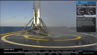 SpaceX Falcon 9 successfully landing on ASDS