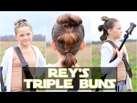 Rey's Triple Buns  | The Force Awakens | Star Wars Hairstyles