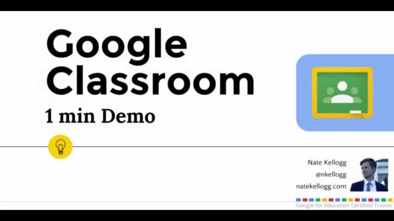 Google Clroom - 1 min demo - YouTube