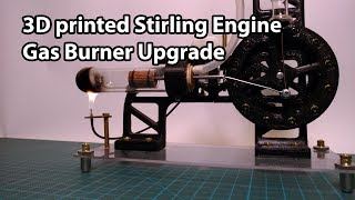3D printed Stirling Engine Gas Burner and Flywheel Upgrade